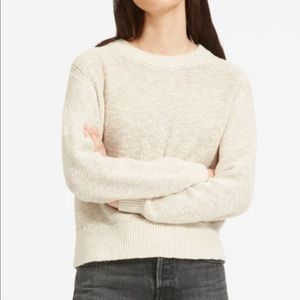 Everlane Cotton Linen Crew Sweater S Oatmeal Beige